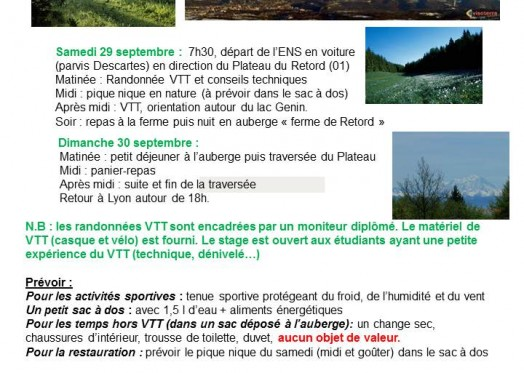 week end VTT Retord 29-30 septembre 2012