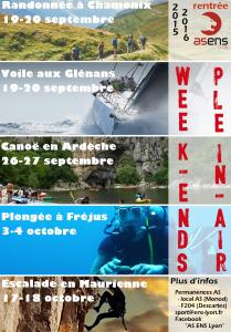 Affiche week ends de rentrée 2015